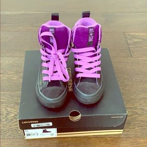 Converse CTAS Asphalt Boot Hi  Black/Purple